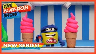 'Ice Cream Swirls' 🍦 Stop Motion Ep. 12 | The Play-Doh Show