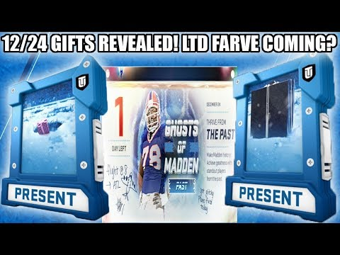 12/24 CHRISTMAS EVE PRESENTS REVEALED! LTD FAVRE COMING SOON? | MADDEN 19 ULTIMATE TEAM