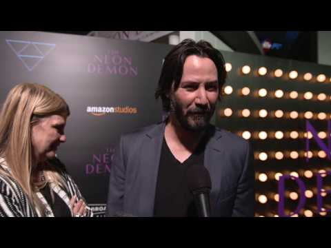 "The Neon Demon: Keanu Reeves ""Hank"" Movie Premiere Interview"