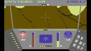 Rescue on Fractalus Lucasfilm Games Commodore 64 C64 gameplay Level 13 running with SuperCPU