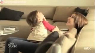 Nancy Ajram And Daughter Ella In Home   HQ   نانسي عجرم وابنتها أيلا في المنزل