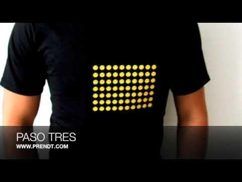 0736c850044fc PLAYERAS CON LUZ PRENDT INSTRUCCIONES - YouTube