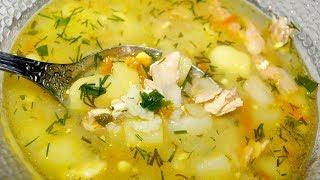 самый простой рыбный суп//Уха из горбуши