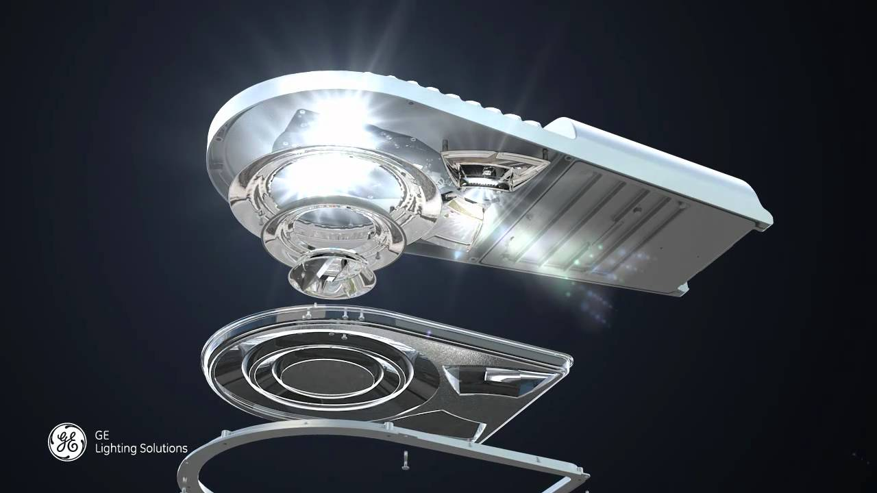 Ge evolve led medium cobrahead luminaire youtube for Luminaire exterieur led mural