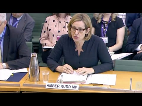 Amber Rudd says 'we don't have targets for removals' during select committee questioning