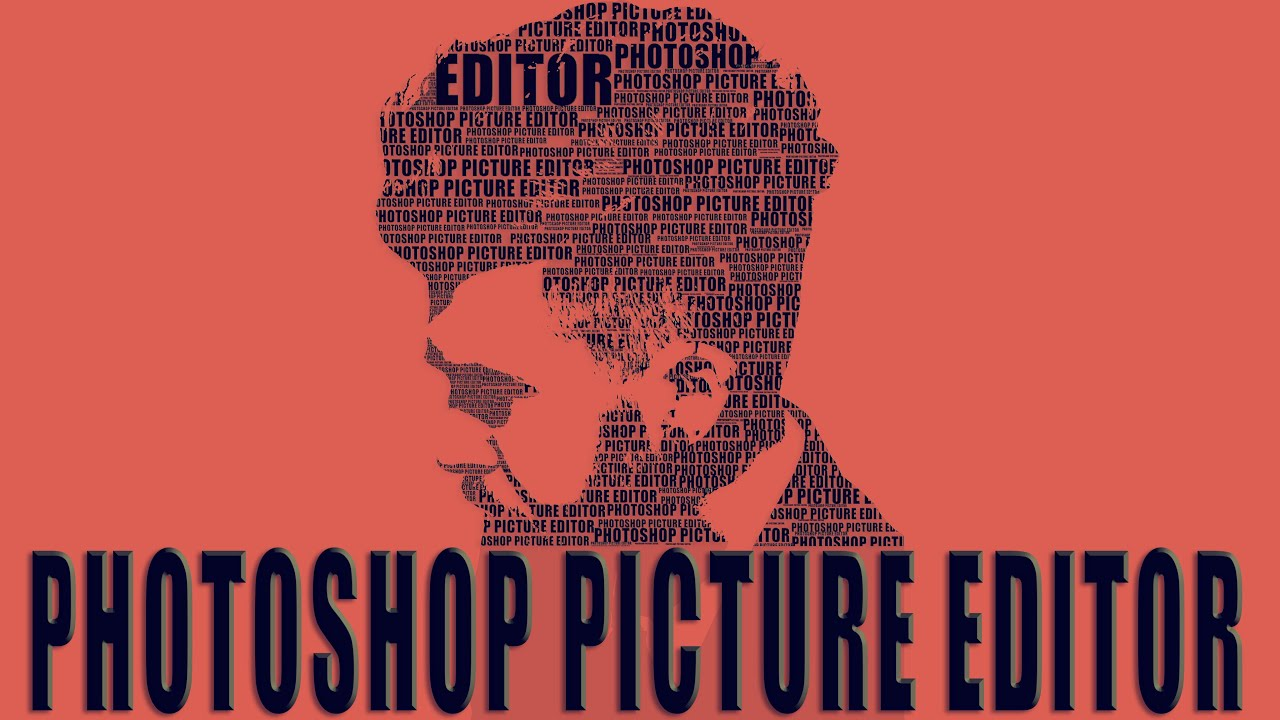 creative text portrait poster in photoshop youtube