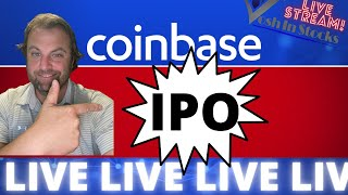 COINBASE IPO ! LIVE STOCK MARKET TRADING - OPENING BELL