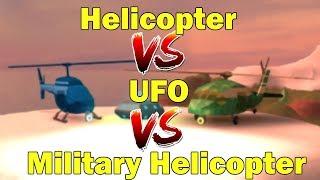 *Geschwindigkeitstest* Militärhubschrauber VS UFO VS Standardhubschrauber | Roblox Jailbreak 1 Jahr Update