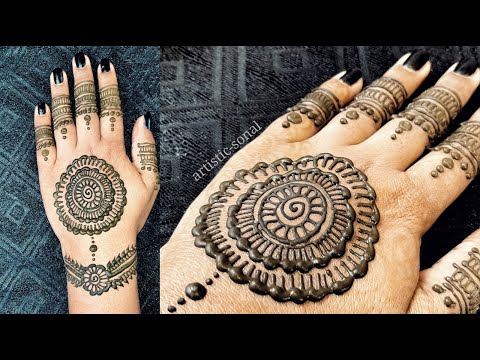 Flowers mehndi designs | back hand mehndi designs | Arabic mehndi designsKaynak: YouTube · Süre: 3 dakika30 saniye