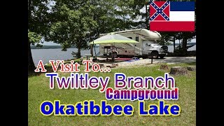 RV Camping At TwiĮtley Branch Campground Lake Okatibbee Collinsville MS.