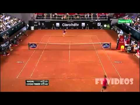 Rafael Nadal x Gimeno-Traver highlights R1 - Rio Open 2014 HD