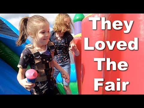 Autism  Sisters Have a Blast Jumping at Country Fair
