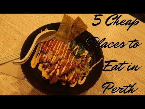 5 Cheap Places To Eat In Perth | Perth Western Australia | GoGrowGlowbern