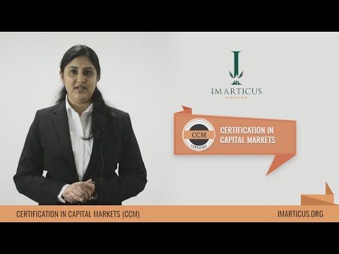 Certification in Capital Markets - Introduction Video