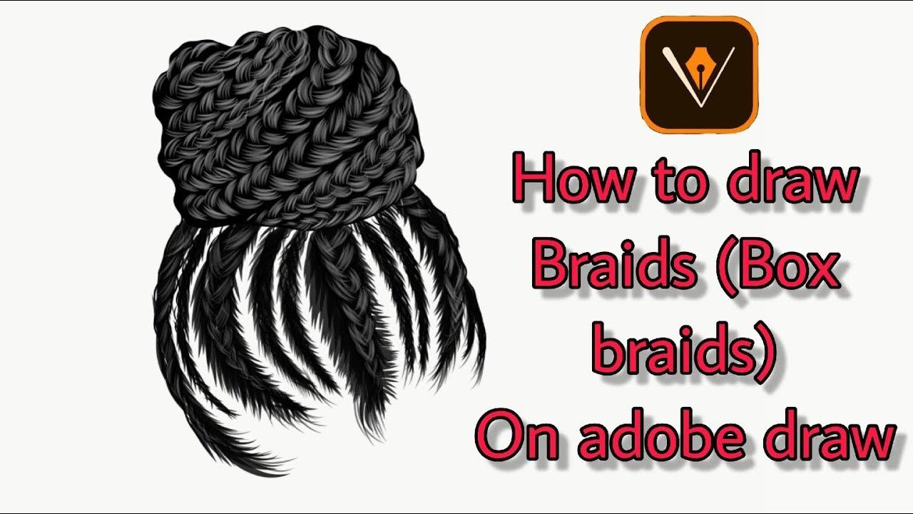 How to draw braids on adobe draw