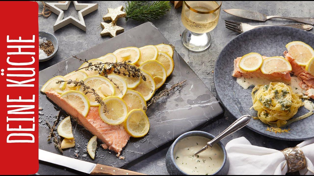 Lachs und Nudelnester | REWE Deine Küche