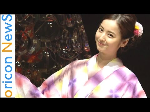 佐々木希 浴衣姿を披露 『アートアクアリウム誕生10周年記念』