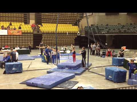 Jozen Brekhus 2014 Region IX USAG Gymnastics Championship Compilation