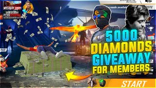 Garena Free Fire Live  - Only Member Join | 5000 Diamond Giveaway