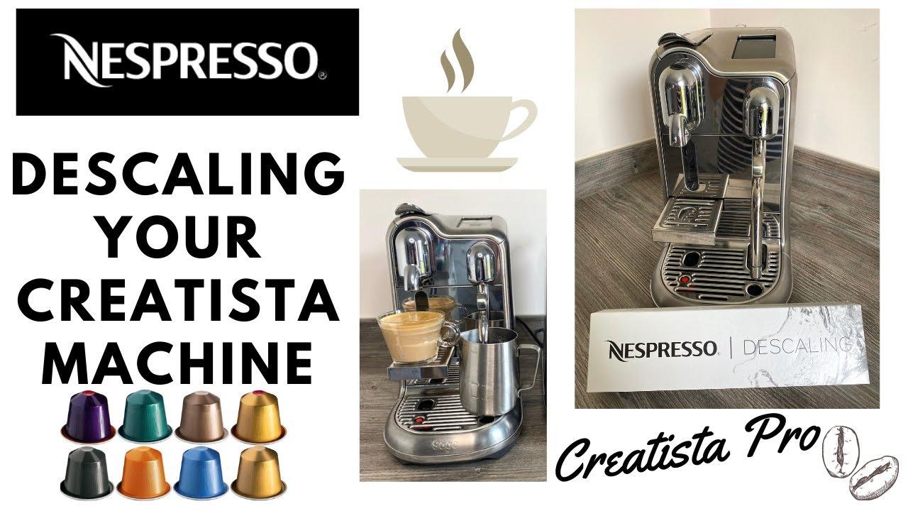 Nespresso Creatista Pro Machine Descaling - YouTube