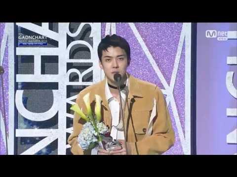 170222  Sehun세훈 & EXO엑소 won The Artist of Fan Choice Award   6th Gaon Chart K Pop Awards