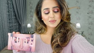 GET READY WITH ME + HUDA BEAUTY GIVEAWAY!! | HUDA BEAUTY NEW NUDE PALETTE | HADIA
