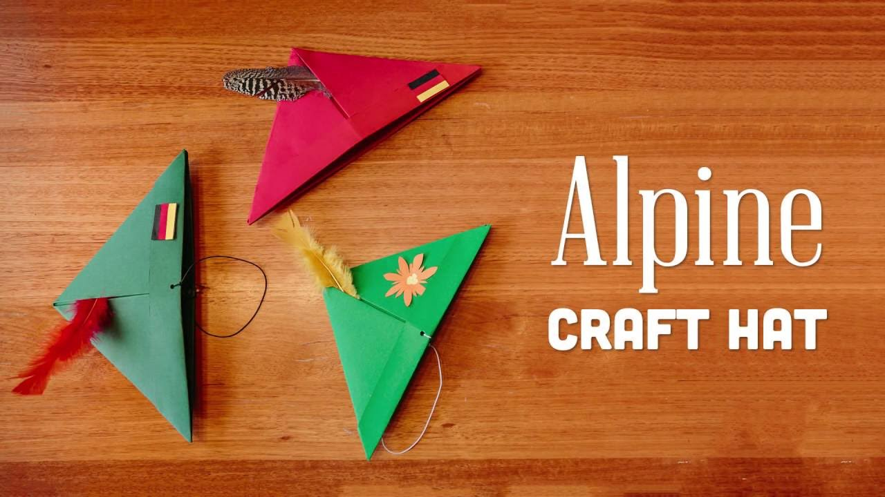 Wearable German Alpine Craft Hats Youtube