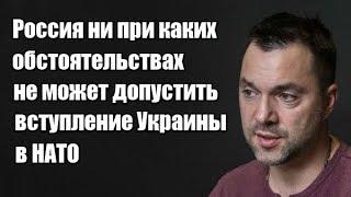 Алексей Арестович: Россия ни при каких обстоятельствах не может допустить вступление Украины в НАТО