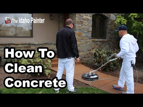 How to clean concrete fast and easy youtube for What to clean concrete with
