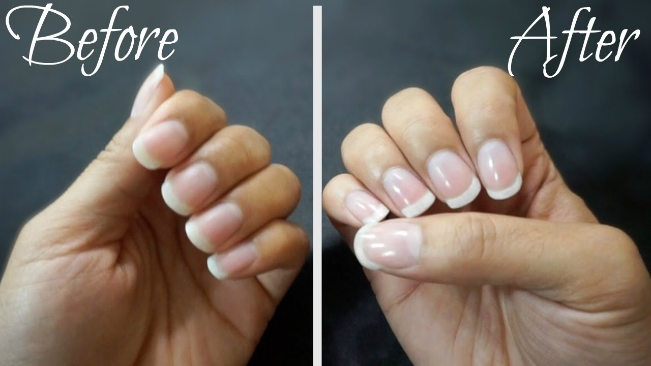 How to get PERFECT shiny nails WITHOUT POLISH - YouTube