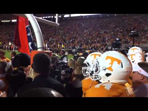 Tennessee enters Neyland Stadium vs Alabama 2012