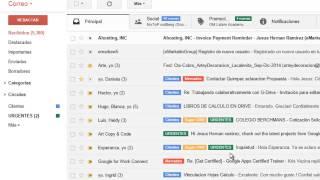 Filtros y Etiquetas Gmail