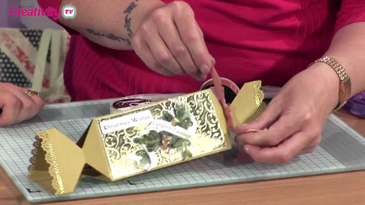 how to make a paper christmas cracker docrafts creativity tv youtube