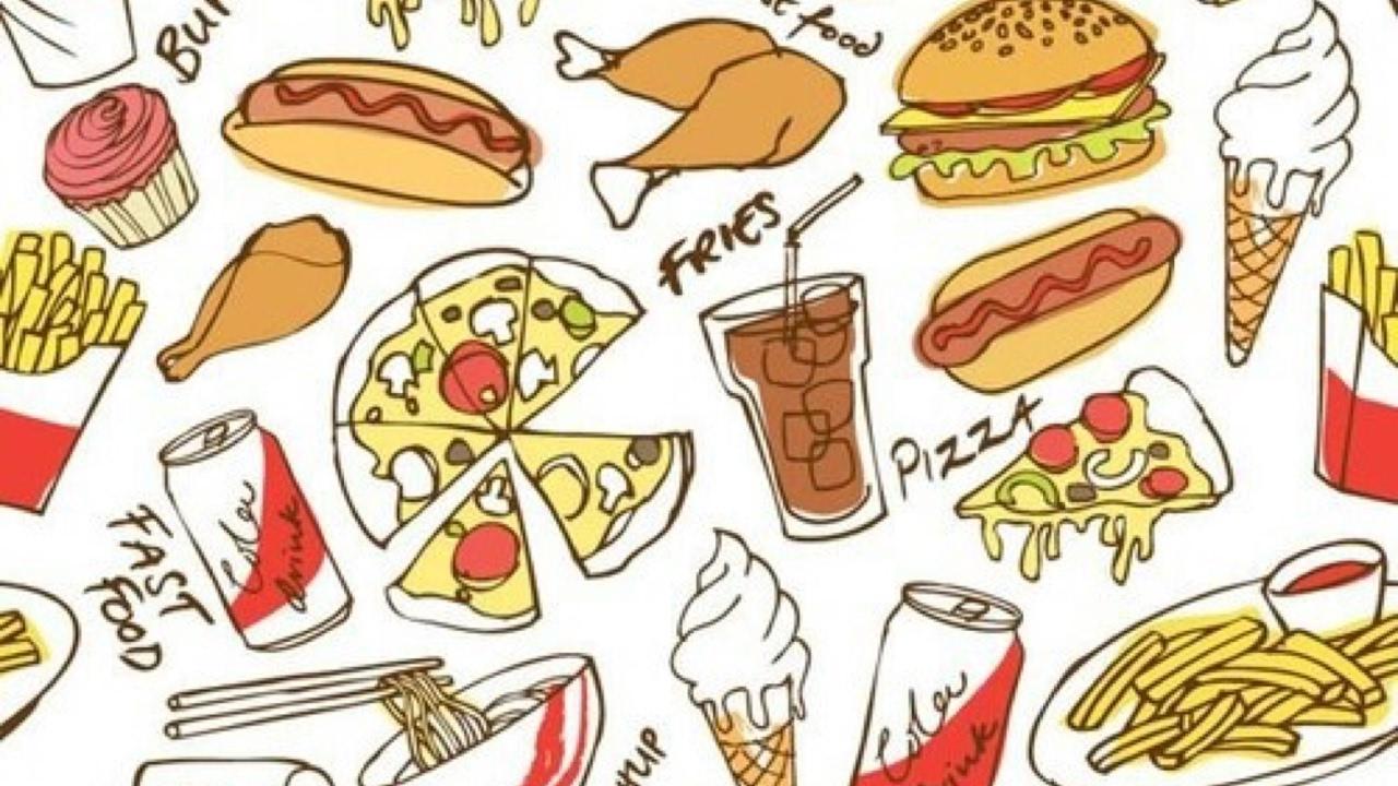 стальные рисунок вредная еда этот