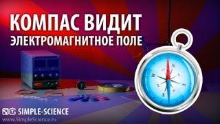 Компас видит электромагнитное поле - физические опыты(Подписаться Вконтакте: http://vk.com/simplescience Опыт показывает, как с помощью компаса увидеть электромагнитные..., 2013-07-13T16:22:33.000Z)