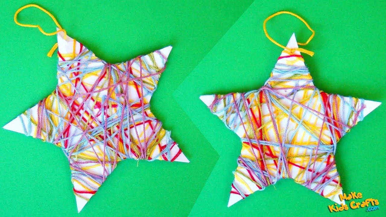 how to make a star christmas tree