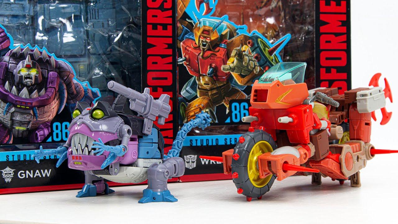 Transformers The Movie Studio Series 86-8 Gnaw , 86-9 Wreck Gar Vehicle Bike Robot Toys