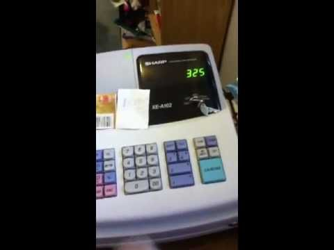 how to work a cash register