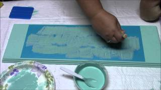 Stencil your wood sign with Chalk Paint