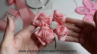Laço chic rosa – How to Make Pink Chic Ribbon Bow