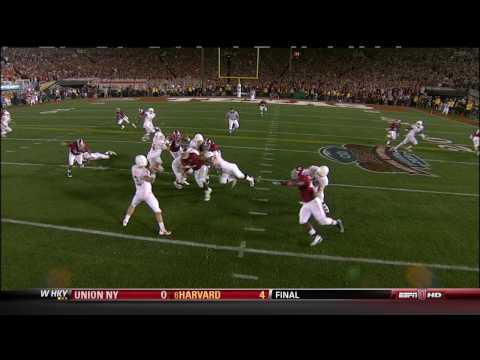 Alabama - Texas 2009 - Javy Arenas First Interception