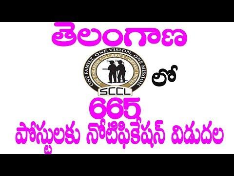 Telangana SCCL Recruitment 2017 (665 Badli Worker Posts)