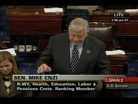 """Sen. Enzi Attempts (Unsuccessfully) To Say """"Blagojevich"""""""