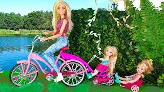 НА ПИКНИК С НОЧЕВКОЙ ! Мультик Барби - Играем в Куклы и игрушки для девочек