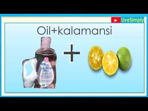 Whitens Kili-kili with the Use of Baby Oil and Kalamansi