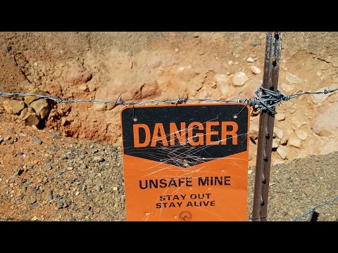 Gold mines in Goldfield, Nevada (SCARY DEEP) 20 mines found!!!