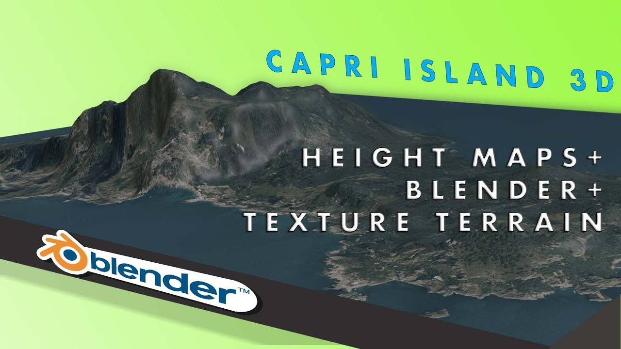 How to get a real 3D terrain from height map with Blender