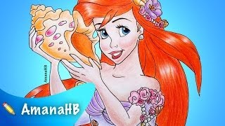 Speed Drawing of Disney Ariel the Little Mermaid (HD)