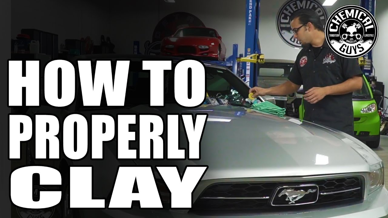 How To Properly Clay Bar Your Car - Convertible Mustang - Chemical Guys