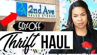 THRIFT HAUL 2018  | 50% off My Local Thrift Store | Sensational Finds
